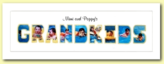 GRANDKIDS Photo Mat - Personalized with grandparents' name - Great Gift Idea For Grandparents!